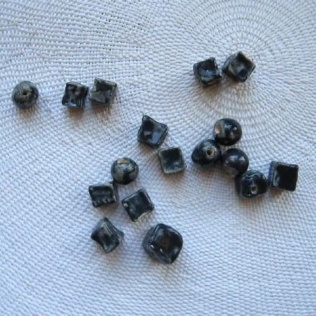 Koraliki Ceramiczne Granatowe